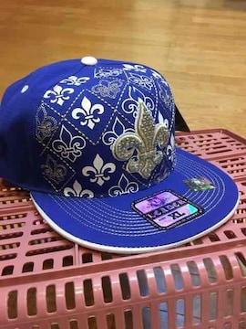 LA直輸入   BBキャップ  刺繍  ブルー系  サイズXL  4