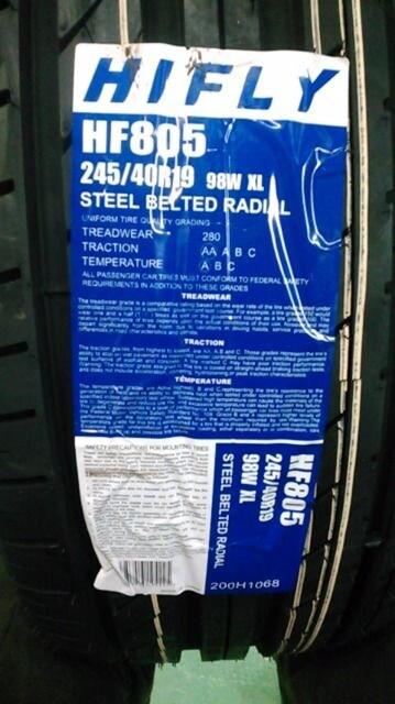4092237)激安中古19インチルフトバーン4本新品タイヤセット245/40R19送料無料 < 自動車/バイク