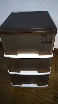 プラスチック 三段収納 美品