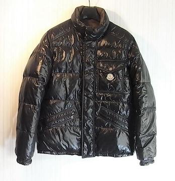 size1 モンクレール 胸ワッペン ダウンジャケット ブラック