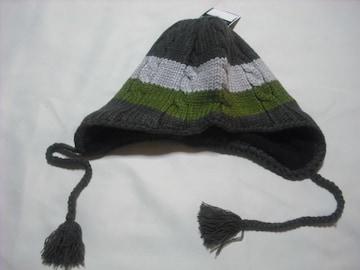 mb339 男 BILLABONG ビラボン 耳当て ニット帽 ビーニー