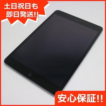 美品●au iPad mini Retina Cellular 16GB スペースグレイ●