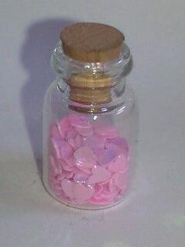 送料無料/可愛いピンクハート型デザイン小瓶大量詰め込み