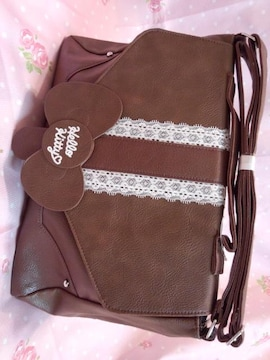 〓 おっきな〓とレースが可愛い〓 キティちゃんショルダーバッグ