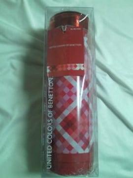 BENETTON ベネトン ステンレス 携帯 魔法瓶 水筒 300ml チェック レッド ボトル