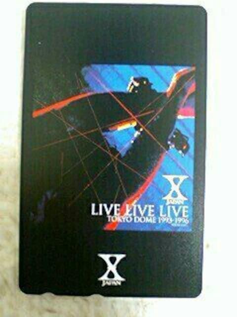 新品未使用 X JAPAN テレカ YOSHIKI hide Live Live Live  < タレントグッズの
