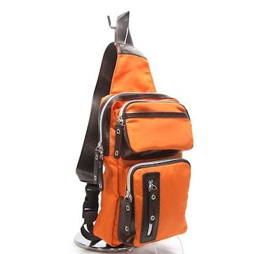 ボディーバッグオレンジ CUBIC CORE #1769