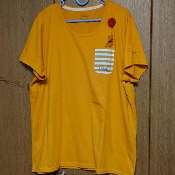 くまのプーさん★5L半袖Tシャツ★イエロー