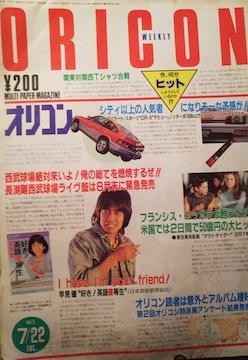 松田聖子・角川春樹【ORICON WEEKLY 】1983年7月22日号