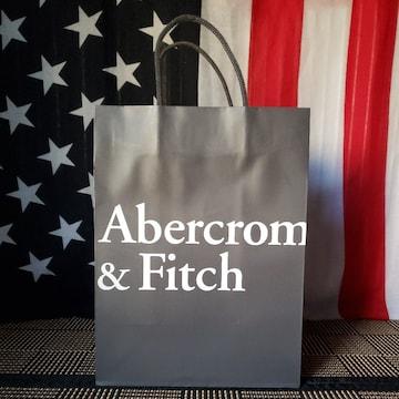 【アバクロ★ショップ袋】Abercrombie&Fitch♪シンプル♪グレー
