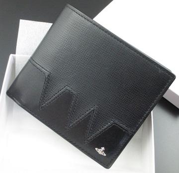 ★新品★箱付 ヴィヴィアンウエストウッド 二つ折り財布 黒★