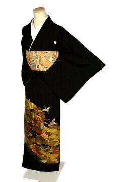 【最高級】新品同様 漆工芸作家【金森一博】金彩 黒留袖 T2177