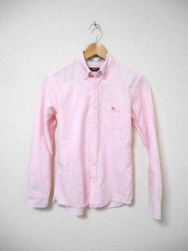 □バーバリーブラックレーベル 長袖シャツ/メンズ/(1)S☆ピンク