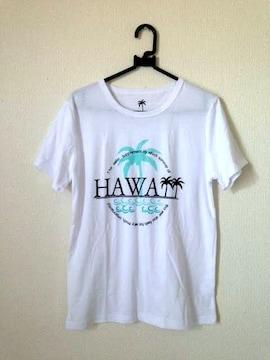 ハワイアン ヤシの木 ホワイト ゆったり Tシャツ M-Lサイズ