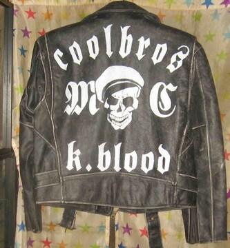 COOLBROS K.BLOOD ★ クールス【バックペイント革ジャン】