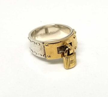 正規エルメスケリーリング52指輪カデナコンビシルバーコ