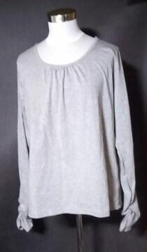 グレー長袖Tシャツ3L大きいサイズ