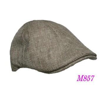 送料無料  M857 ハンチング 6パネル Cap 帽子 ベージュ3