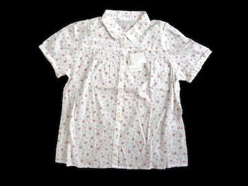 新品 定価1980円 シネマクラブ 丸襟 花柄 シャツ ブラウス