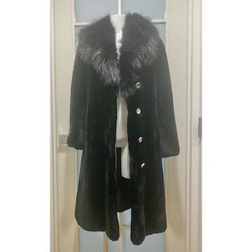 ゴージャス ビーバーコート 毛皮コート 黒 XS