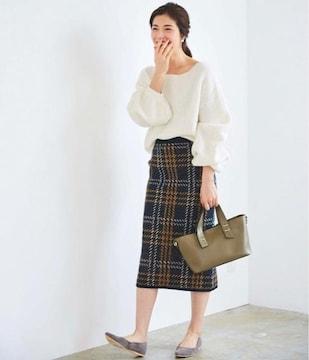 新品☆ur's(ユアーズ)モヘアライクボリュームスリーブニット☆