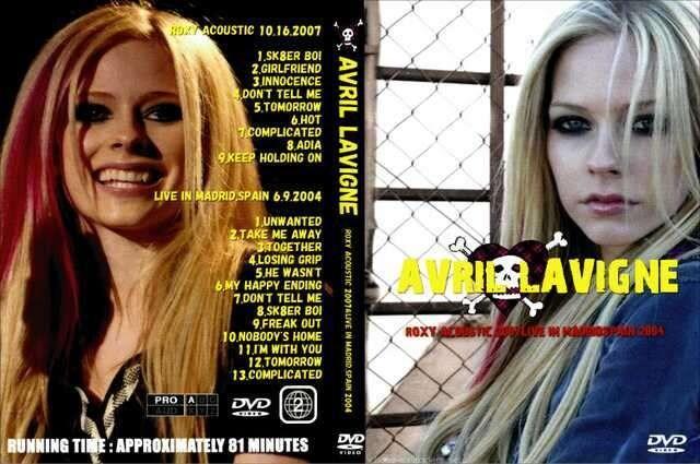 AVRIL LAVIGNE ACOUSTIC 2007 & SPAIN 2004  < タレントグッズの