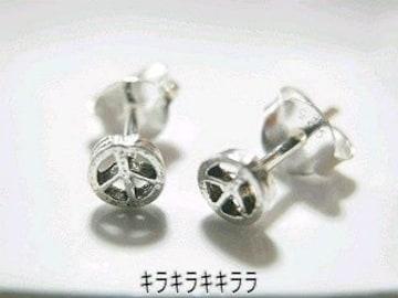 《New》<シルバー925*刻印入り>★ピースマーク ピアス