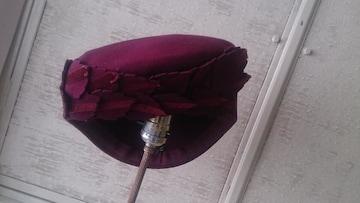 ヴィンテージ☆アメリカ製ワイン色帽子