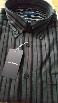 Mサイズ綿100%レジメンタルストライプ長袖!高貴紳士的キレメ系!ボタンダウンシャツ!