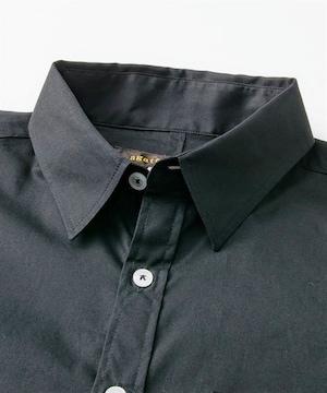 Lサイズ日本製!男の黒!黒際立つ!首回りゆったり高貴紳士的!長袖シャツ