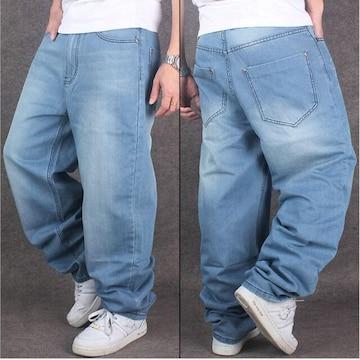 大きいサイズ 新品 (96-101cm) ワイド リラックス USA body B系HIPHOP系