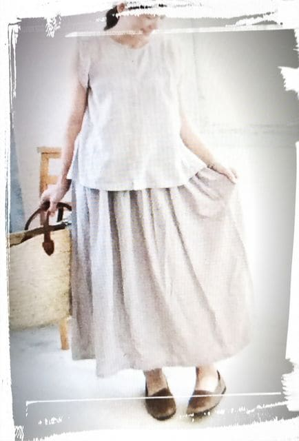 *ナチュふわ スカート*新品  antiquepink  < 女性ファッションの