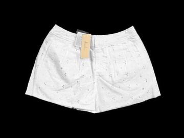 新品 定価5985円 ダズリン DazzliN ショートパンツ M 白 花 刺繍