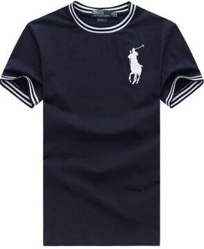 正規■POLO ポロ ラルフローレン メンズ ポロシャツ ネイビーL