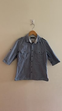 RAGEBLUE レイジブルー 七分袖 デニムシャツ 水色 M
