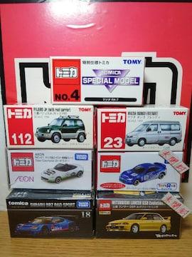 1スタ★トミカ7台三菱/スバル/マツダセット★RX-7/フレンディ/ランエボ�V/パジェロ/BRZ