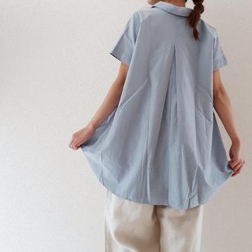 〇KBF〇オーバーサイズのスキッパーブラウス BIGシャツ