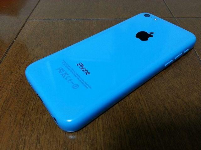 即落/即発!!美中古品 iPhone 5c 16GB ブルー 完済 < 家電/AVの