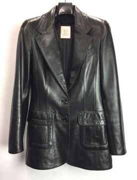 正規ロエベレザージャケットブラック黒レディースLOEW