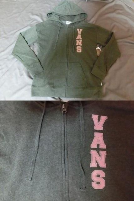 アメカジ バンズ【VANS】フルジップパーカーUS S < 女性ファッションの