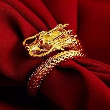 龍 ゴールデン リング 指輪