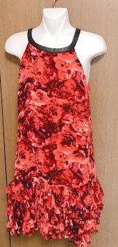 19】お花柄 鮮やかワンピースドレス