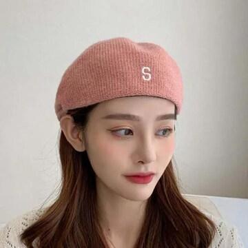 gulamu jewelrym ハンチングニット帽 ピンク