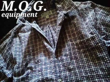 【M.O.G.】equipment Vintage Washed カジュアルシアサッカーシャツ M/Plaid