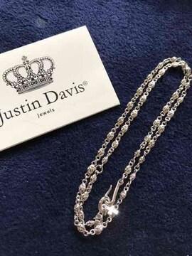 新品◆JUSTIN DAVIS◆TINY CROSS CHAIN◆クロスチェーン◆50cm◆
