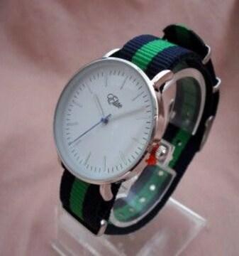 カジュアルベルトウォッチGR/SV-腕時計