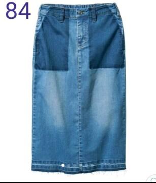 84★ユーズド加工★リメイク風ストレッチタイトスカート★大きいサイズ