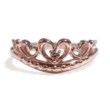 【4月の誕生石ダイヤモンド】シルバー925リング 指輪 ティアラ