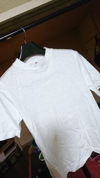 UNIQLO 白  ハイネック? Tシャツ  M