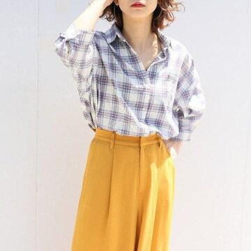 〇LOWRYS FARM〇ゆったりオーバーサイズ チェックシャツ